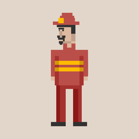 Pixel fireman