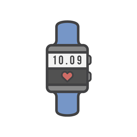 Illustration of Heart rate monitor Stock Illustration - 97153030