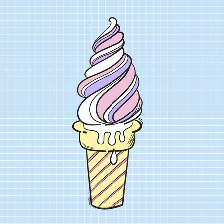 Illustration ice cream isolated on background