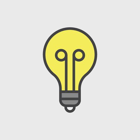 Illustration of light bulb 写真素材