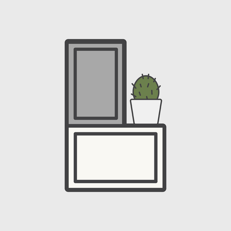 Illustration of office cabinet icon Stock Photo