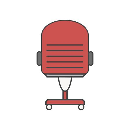 Illustration of office chair icon Banco de Imagens