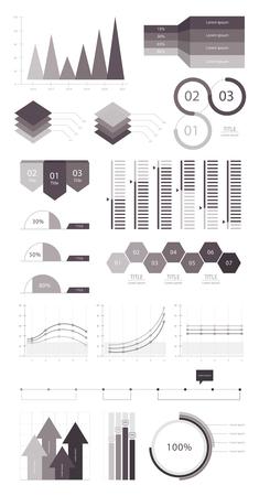 Définir des éléments de infographiques Banque d'images - 97152922