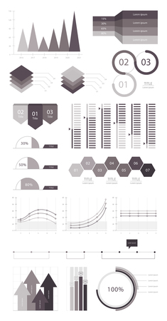 Set elements of infographic 스톡 콘텐츠