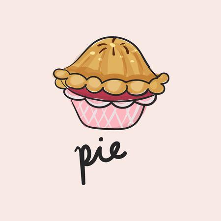 Illustration of pie dessert Stok Fotoğraf - 97152677