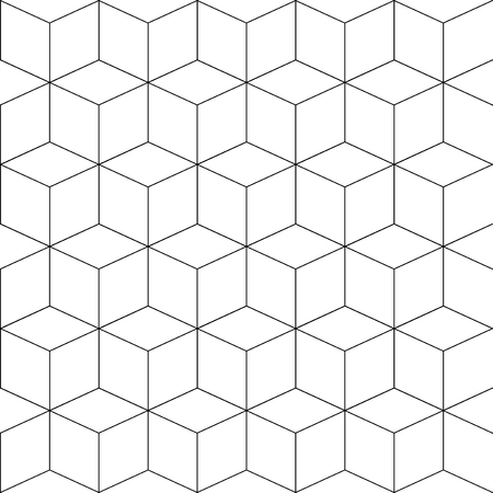 Seamless pattern of various lines and zigzags Imagens