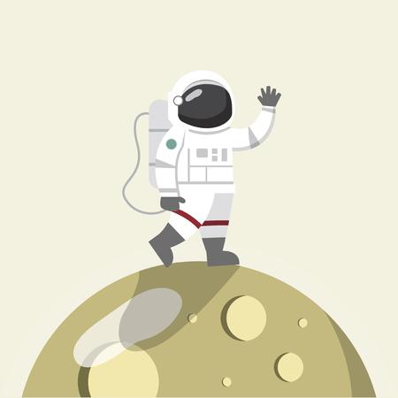 illustration of Astronaut on the moon