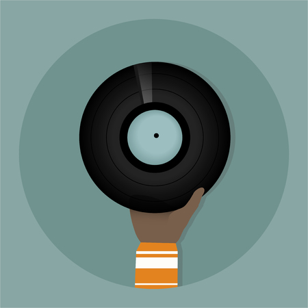 Illustration of Music record  Stockfoto