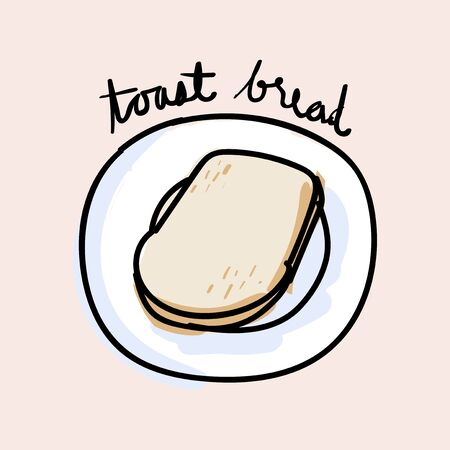 Illustration drawing style of bread Banco de Imagens - 97736562