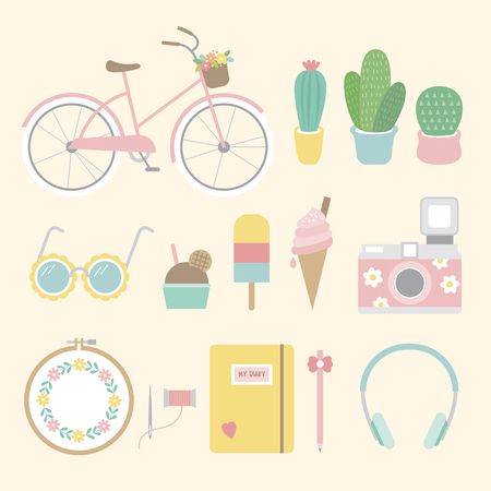 illustration of lifestyle Фото со стока