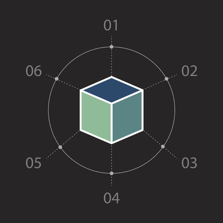 Cube infographic element Stok Fotoğraf