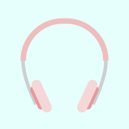Illustration of pink headphones Stok Fotoğraf - 116605037