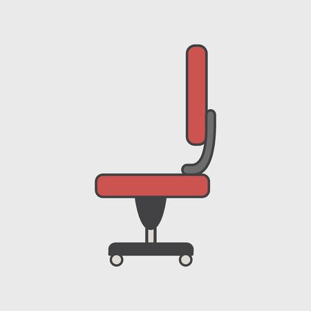 Illustration of office chair icon Imagens