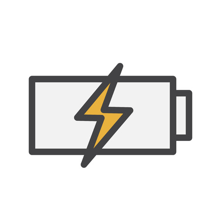 Battery charging icon Imagens