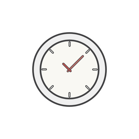 Illustration of clock icon 写真素材