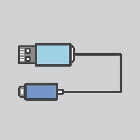 Illustration of a USB plug