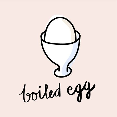 Illustration drawing style of boiled egg