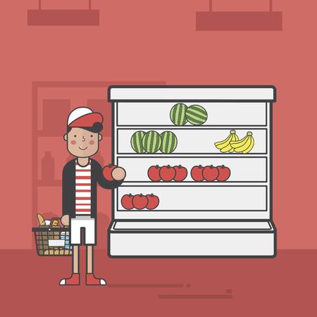 Illustration of supermarket Imagens - 97735417