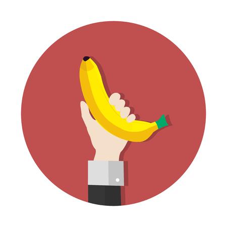 Hand holding a banana Zdjęcie Seryjne