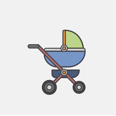 Illustration of baby stroller icon