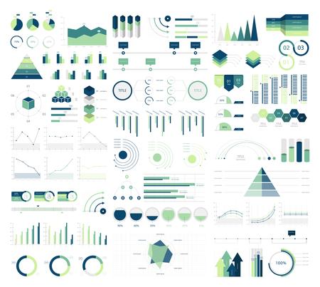 Set elements of infographic Archivio Fotografico