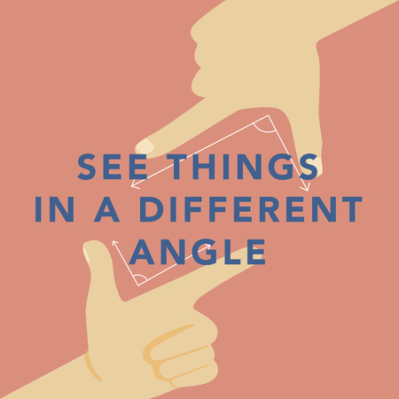 'Exploring different angles' illustrations Stok Fotoğraf - 97735284