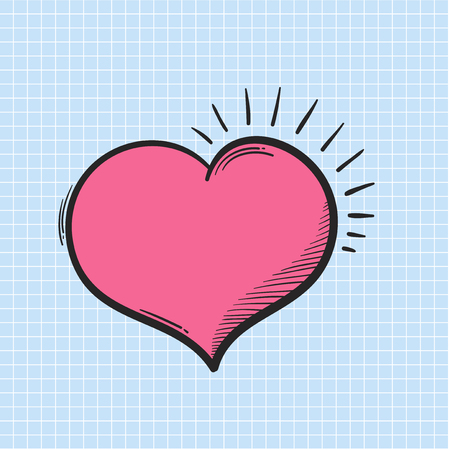 Doodle of a heart Stock Photo