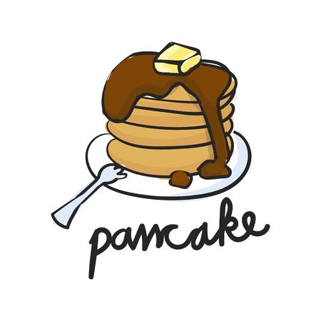 Illustration drawing style of pancake Stock fotó