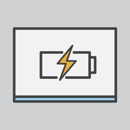 Battery charging icon Imagens - 116605886