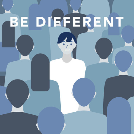Be different illustration