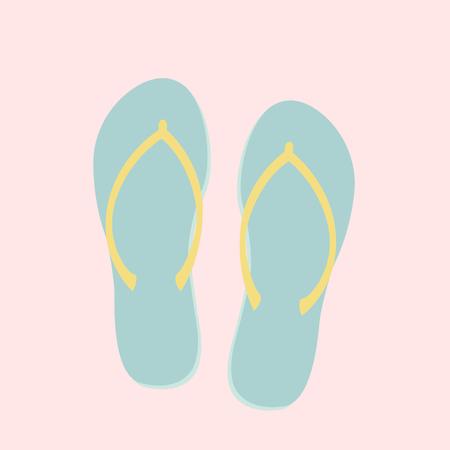Illustration of slippers Stock Photo