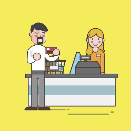 Illustration of supermarket Banco de Imagens - 97735144