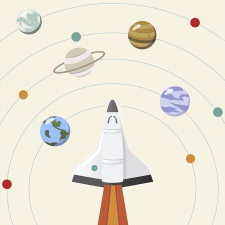 The solar system illustration