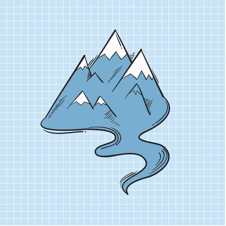 Illustration of mountain isolated on background Banque d'images - 97631909