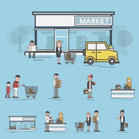 Illustration of supermarket Banco de Imagens - 97735147