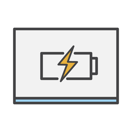 Battery charging icon Imagens - 116605900