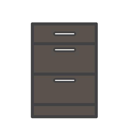Illustration du tiroir à documents Banque d'images - 97735153