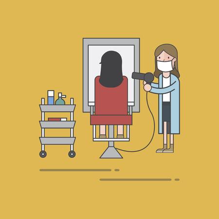 Illustration set of barber shop Standard-Bild - 97630536