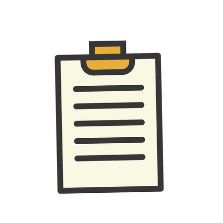 Illustration of document icon Stock fotó - 97730752