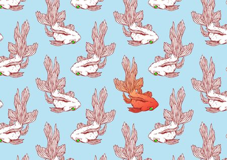 Goldfish Animal Graphic Japan Traditional