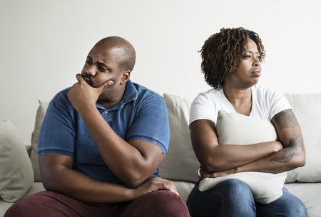 Black couple having an argument Stok Fotoğraf