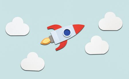 Launch rocket spaceship startup business 版權商用圖片