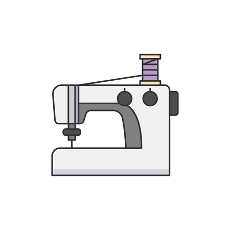 Sewing machine illustration