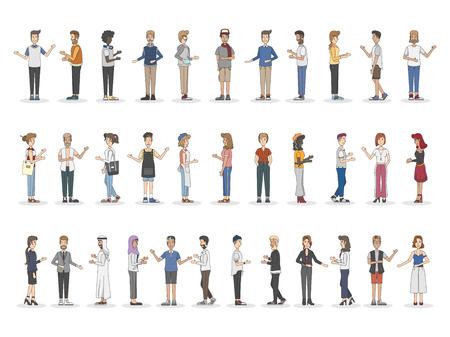Colección de diversas personas ilustradas Foto de archivo - 98002188