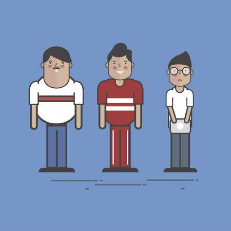 Illustration of people avatar Banco de Imagens