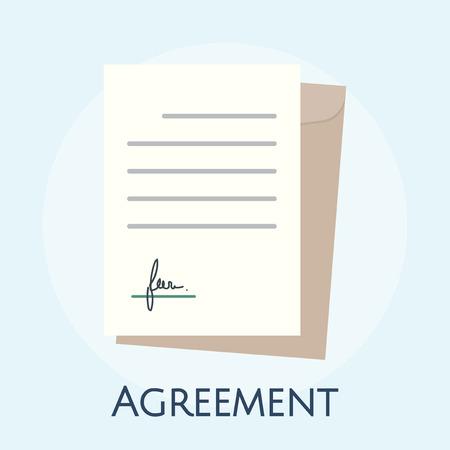 Illustration of business agreement concept Stok Fotoğraf - 98002734