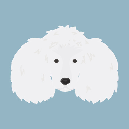 Cute dog illustration Banco de Imagens