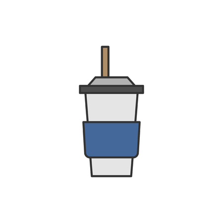 Illustration of drink container