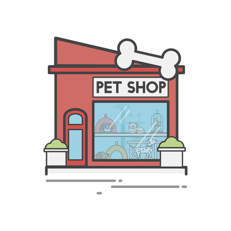 Illustration set of pet shop Stok Fotoğraf - 98003041
