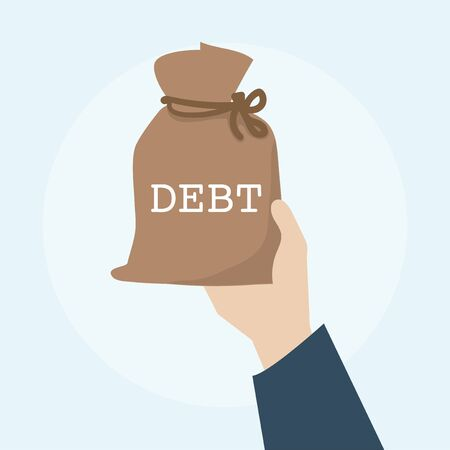 Illustration of debt financial concept Stock Illustration - 98003244